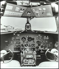 DC-3 cockpit view